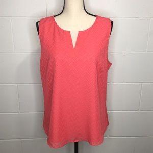 Market & Spruce Texture Sleeveless Blouse XL